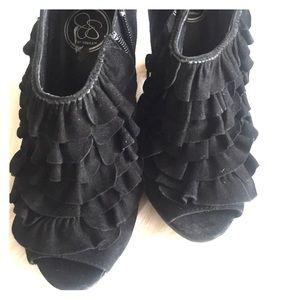 SZ 7.5 Jessica Simpson Peep Toe Ankle Booties